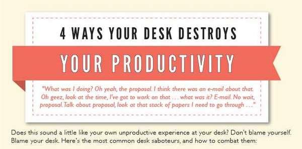 De-Cluttering Desk Infographics