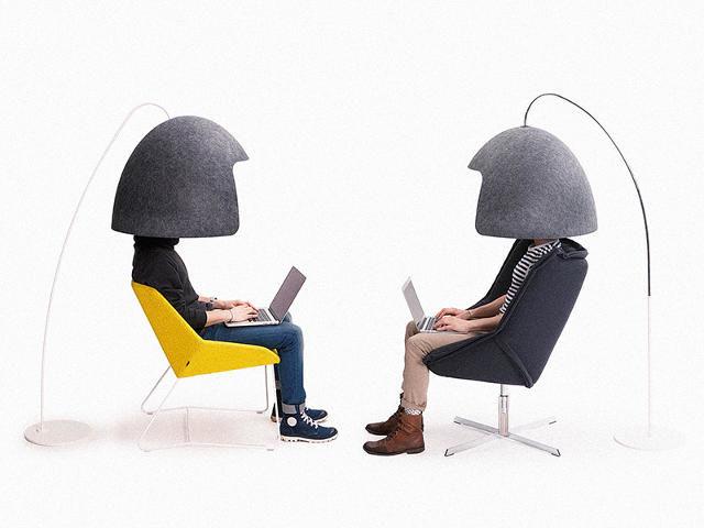 Hood-Like Desk Dividers