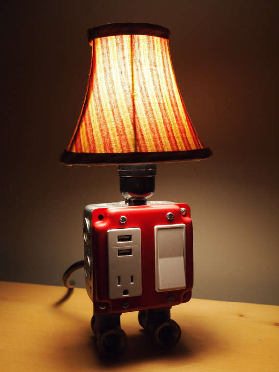 desk lamp phone charger