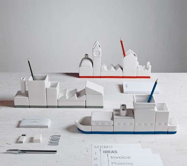 Whimsical Modular Desk Organizers