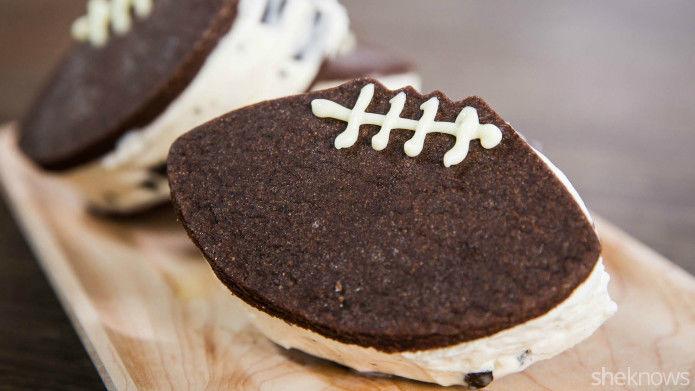 Football Ice Cream Sandwiches