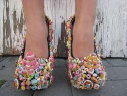 Bright Pastry-Coated Heels