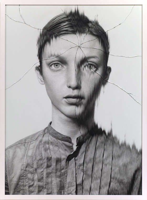 Bizarre Cracked Drawn Portraits
