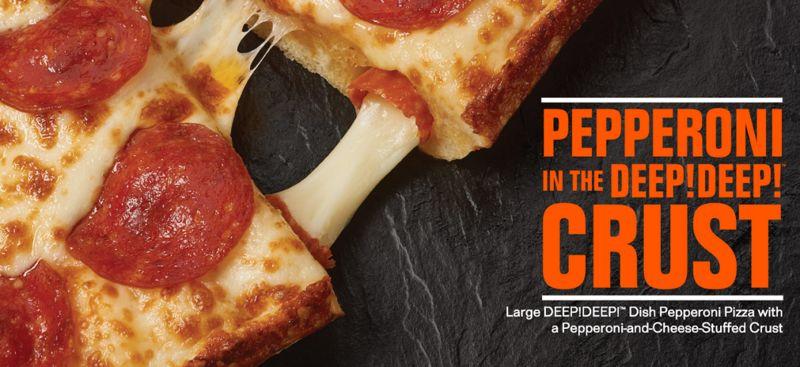 Pepperoni Stuffed Pizza Crusts Detroit Style Deep Dish Pizza