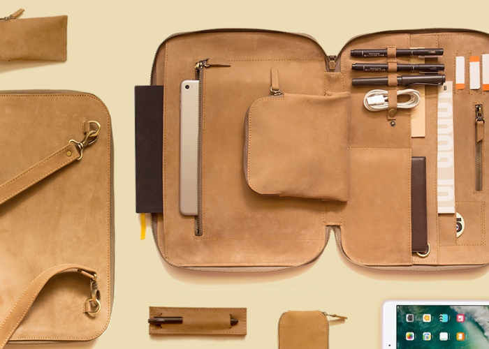 Italian Leather Gadget Bags