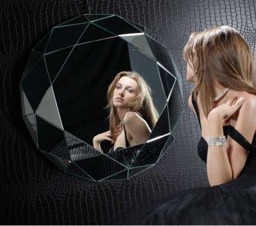 Diamond-Shaped Mirrors