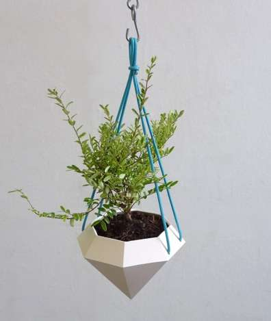 Jewel Shaped Plant Pots Diamond Hanging Planter