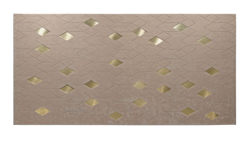 Mixed-Material Diamond Rugs