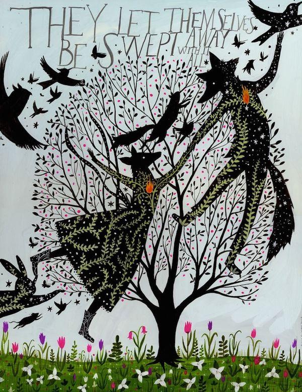 Folk Art-Inspired Illustrations