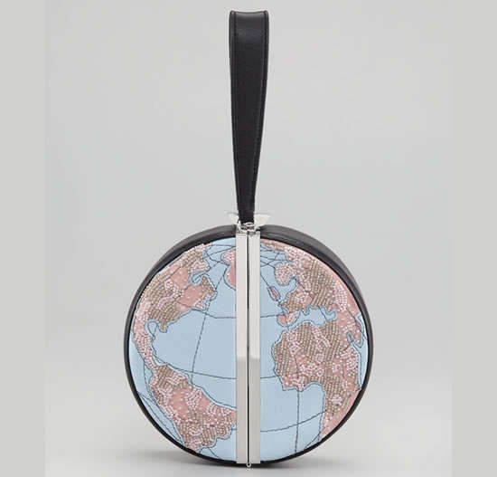 Diane von Furstenberg Globe Clutch
