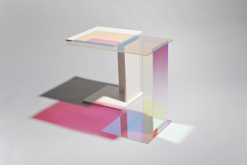 Dichroic Glass Tables