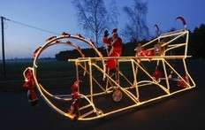 Giant Bicycling Santas