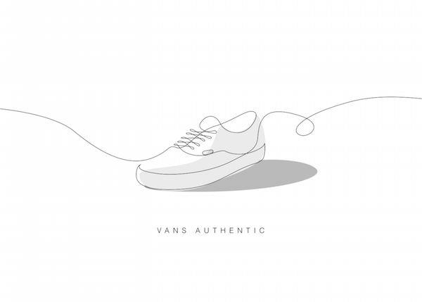 Single Line Sneaker Illustrations