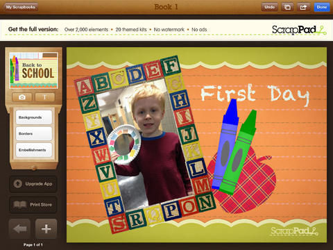 Back-to-School Scrapbooking Apps