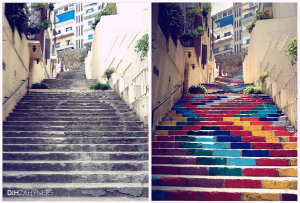 Vibrant Painted Staircase Installations
