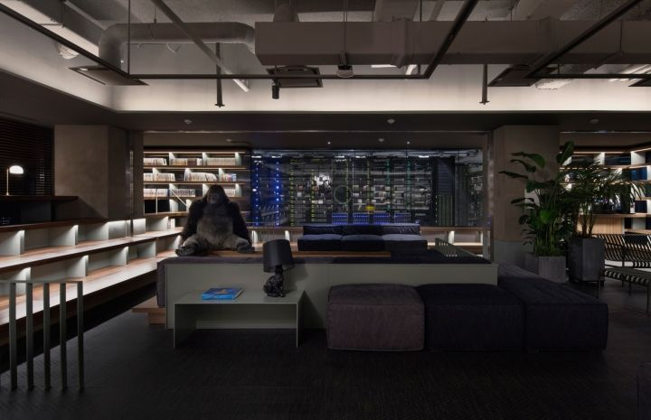 Dimly Lit Office Interiors