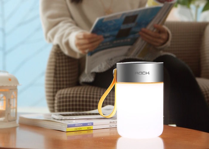 Device-Charging Speaker Lamps