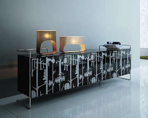 Silk Screen Serving Furniture