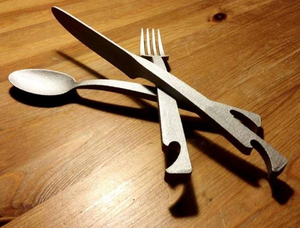 Bottle-Opening Kitchen Cutlery