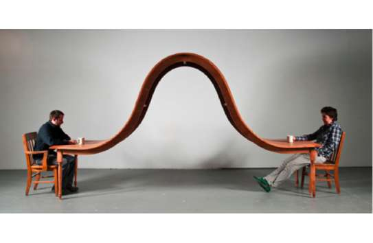 Undulating Dinner Tables