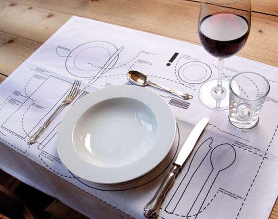 Dinner Etiquette Placemat Diagrams