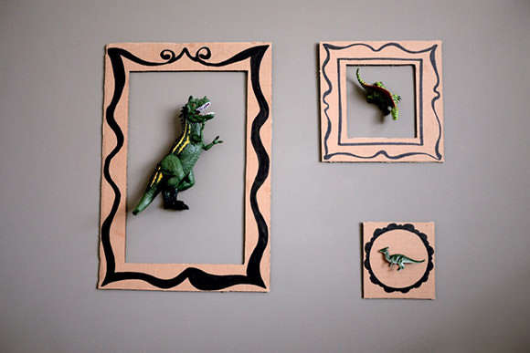 DIY Dinosaur Wall Art
