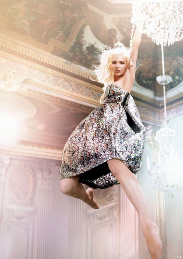 Chandelier-Swinging Fashion Ads