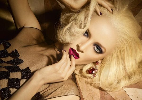 Glamorously Gilded Makeup Ads