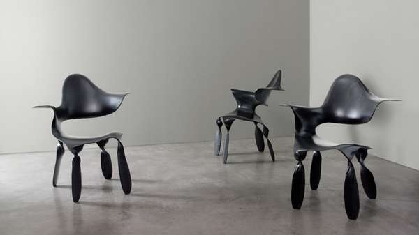 Sculptural Carbon Fiber Seating
