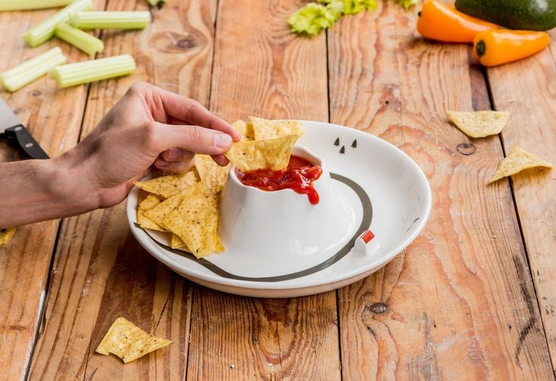 Dual-Level Dipping Bowls