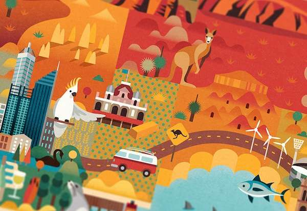 Vibrantly Illustrated Tourism Maps