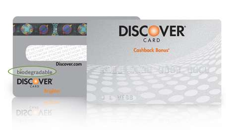 Biodegradable Credit Cards