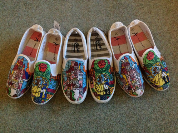 Canvassed Disney Shoes