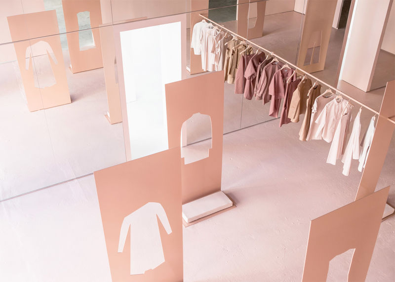 Peachy Pop-Up Interiors