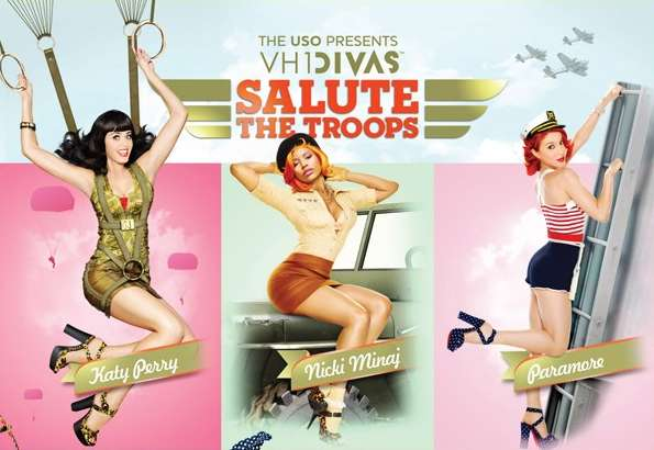 Divas Salute the Troops