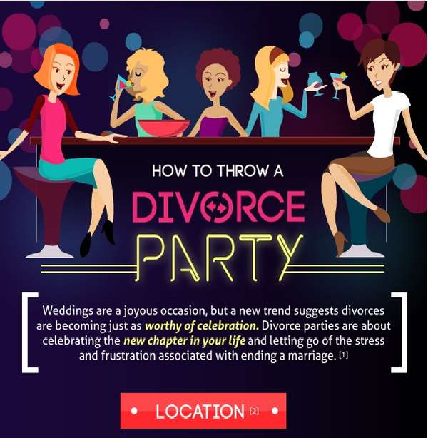 Celebratory Divorce Infographics