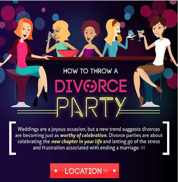 Celebratory Divorce Infographics