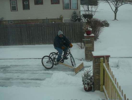 DIY Bike Snow Plows