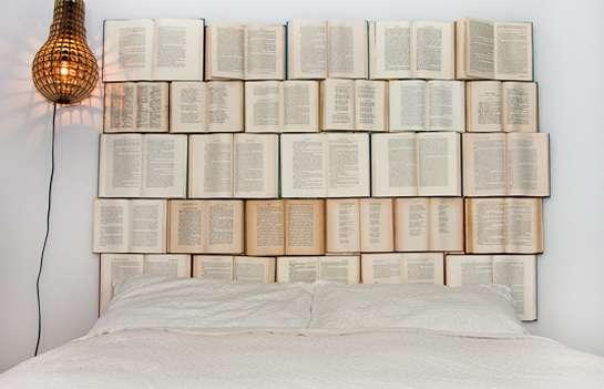 Novel-Covered Bedroom Decor