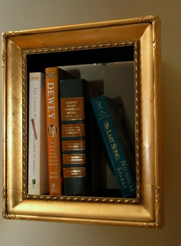 Illusory picture frame bookshelves diy bookshelf - Shelving for picture frames ...