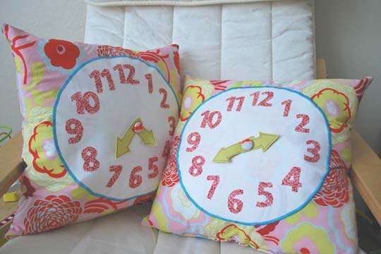 DIY Clock Pillows