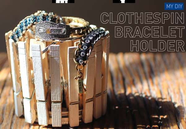 DIY Clothespin Bracelet Holder