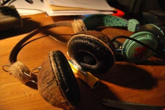 DIY Coconut Headphones