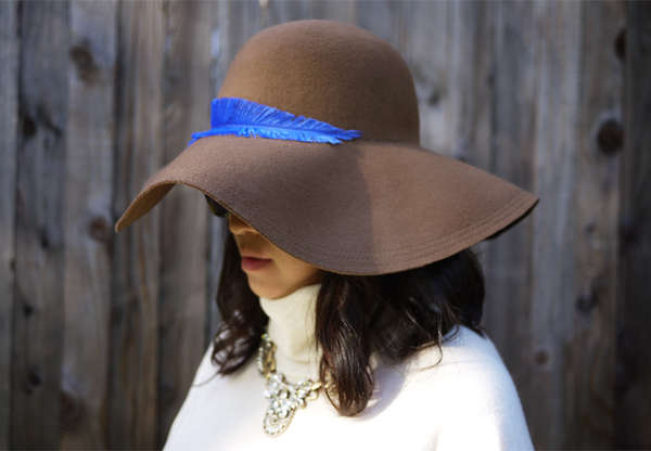 DIY Feather Accented Hats