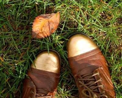 DIY Metallic-Tipped Boots
