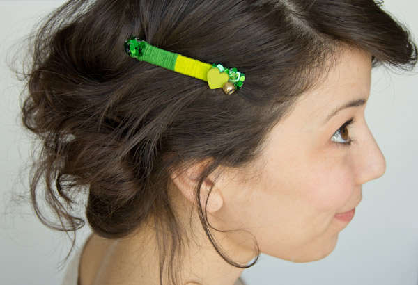 Pretty St. Patricks Day Barrettes