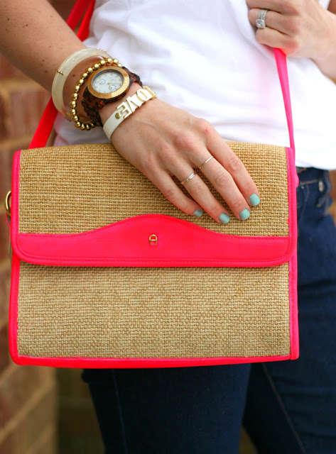 Vibrantly Accented DIY Handbags