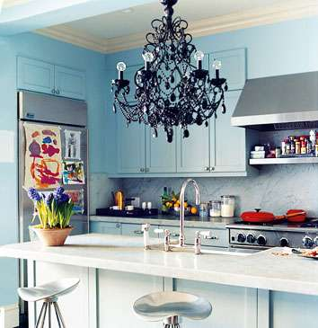 Chandeliered Cooking Spaces