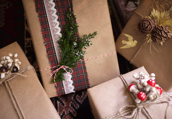 Festively Organic Wrapping Paper