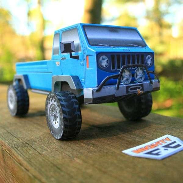 DIY Mini Paper Trucks